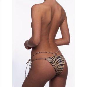 Tiger Print String Bikini